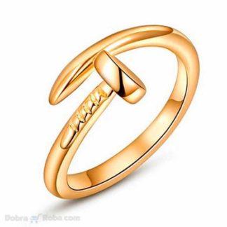zlatni ekser prsten od nerđajućeg čelika
