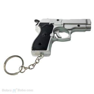 pištolj privezak sa led sijalicom i laserom velikog dometa