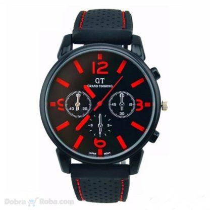 grand touring sat za muškarce sportski satovi crveno crni