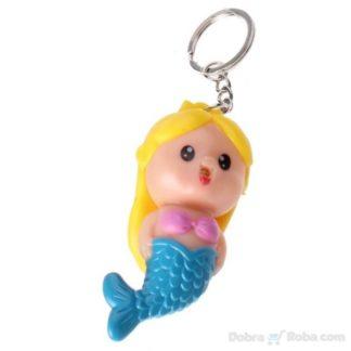 privezak sirena žena riba igračka sa led lampom privesci