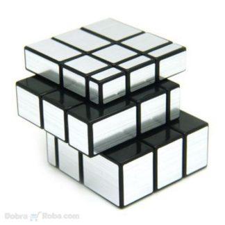 kvalitetna rubiks mirror kocka za slanje rubikova kocka u sivoj i zlatnoj boji mirror sa nejednakim stranicama