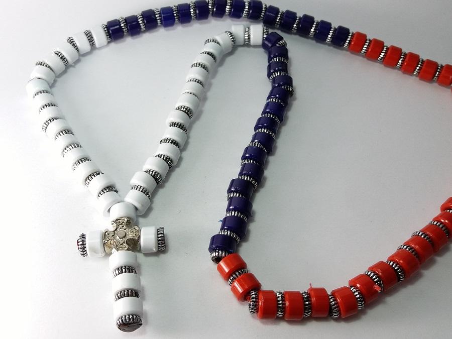 srpska brojanica ogrlica za nošenje oko vrata muška brojanica srpska trobojka