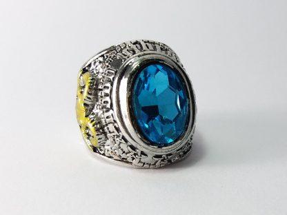 plavi kamen prsten muški nerđajući čelik