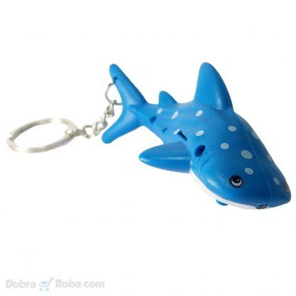 privezak ajkula sa led lampicom sijalicom igračka ajkula shark privesci