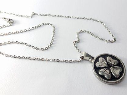 ogrlica za žene muškarce dečija medaljon privezak detelina 4 lista lančić