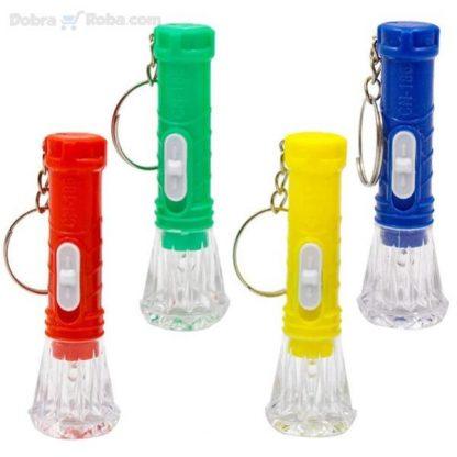 privezak baterijska lampa sijalica na baterije