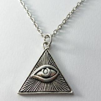 svevideće oko ogrlica od čelika iluminati simboli mason simbolika ogrlica nerđajući čelik srbija iluminat slobodni zidari