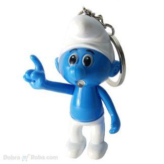 štrumph privezak za ključeve led igračka figura