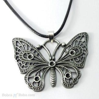 unisex ogrlica leptir hirurški čelik