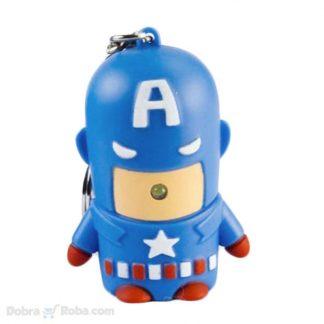 captain america privezak za ključeve led igračka figurica
