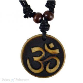 om muška ženska ogrlica aum indijska religiozna ogrlica nakit hinduistički budistički djainizam kožna ogrlica srbija